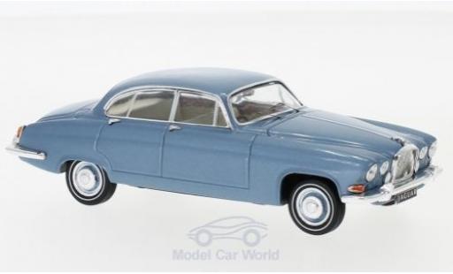 Jaguar MK 1/43 IXO X metallise bleue RHD 1961 miniature