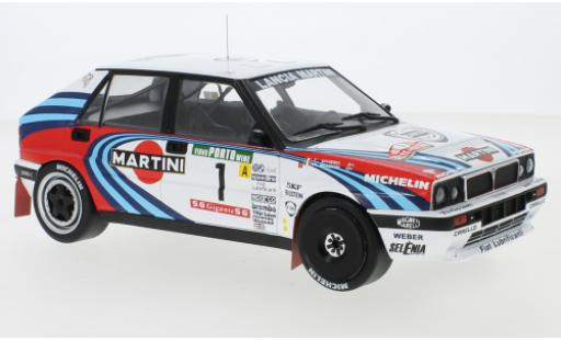 Lancia Delta 1/18 IXO Integrale 16V No.1 Martini Rallye WM Rally Portugal 1990 M.Biasion/T.Siviero diecast model cars