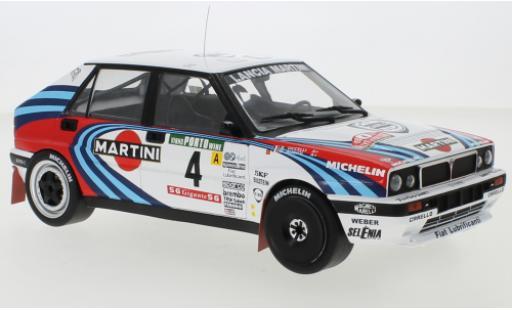 Lancia Delta 1/18 IXO Integrale 16V No.4 Martini Martini Rallye WM Rally Portugal 1990 D.Auriol/B.Occelli diecast model cars