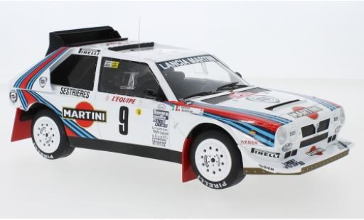 Lancia Delta 1/18 IXO S4 No.9 Martini Racing Martini Rally Monte Carlo 1986 M.Biasion/T.Siviero miniature