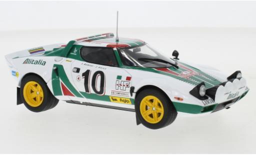 Lancia Stratos 1/24 IXO HF No.10 Rallye Monte-Carlo 1976 S.Munari/S.Maiga miniature