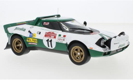 Lancia Stratos 1/18 IXO HF No.11 Alitalia Rallye WM Rally San Remo 1975 B.Waldegaard/H.Thorszelius diecast model cars