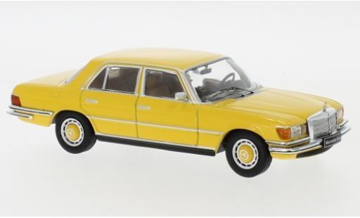 Mercedes 450 1/43 IXO SEL (W116) jaune 1975 miniature