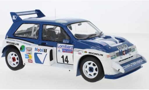 MG Metro 1/18 IXO 6R4 RHD No.14 Rallye WM RAC Rally 1986 D.Llewellin/P.Short miniature