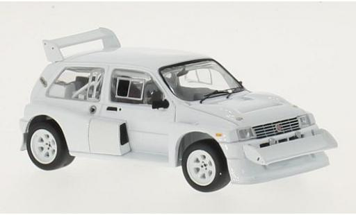MG Metro 1/43 IXO 6R4 blanche RHD 1985 Plain Body Version y compris les 4 Ersatzräder miniature