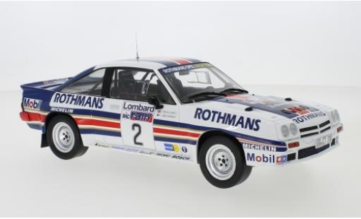 Opel Manta 1/18 IXO 400 No.2 Rothmans Rally Team Rothmans Rallye WM RAC Rallye 1983 H.Toivonen/F.Gallagher miniature