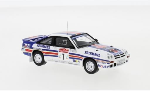 Opel Manta 1/43 IXO 400 No.7 Rothmans Rally Team Rothmans Rallye WM Rallye San Remo 1983 H.Toivonen/F.Gallagher miniatura