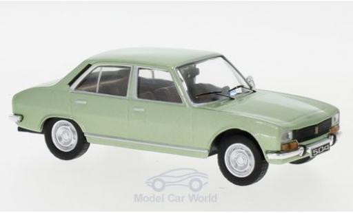 Peugeot 504 1/43 IXO metallise verte 1969 miniature