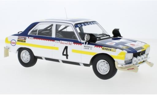 Peugeot 504 1/18 IXO Ti No.4 Rallye Marokko 1975 T.Mäkinen/H.Liddon diecast model cars