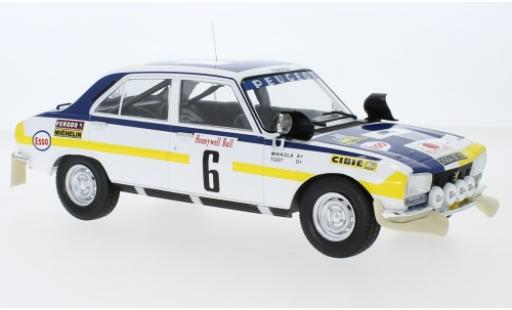 Peugeot 504 1/18 IXO Ti No.6 Rallye Marokko 1975 H.Mikkola/J.Todt diecast model cars