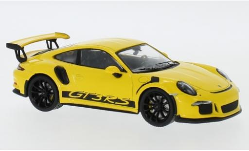 Porsche 991 GT3 RS 1/43 IXO 911  yellow 2017 diecast model cars