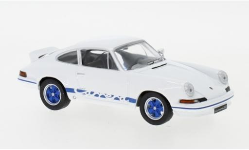 Porsche 911 RS 1/43 IXO Carrera 2.7 blanche/bleue 1973 miniature