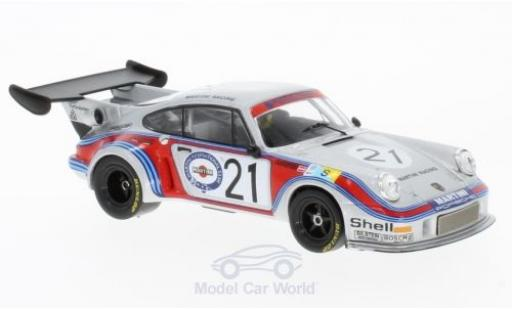 Porsche 930 Turbo 1/43 IXO 911 Carrera RSR 2.1 No.21 Martini Racing Team Martini 24h Le Mans 1974 M.Schurti/H.Koinigg miniature