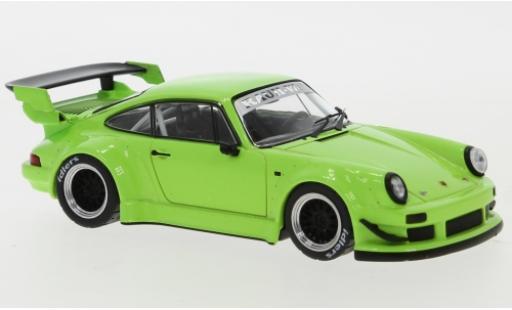 Porsche 930 RWB 1/43 IXO 911  verde RAUH-Welt coche miniatura