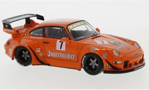Porsche 993 RWB 1/43 IXO 911  Jägermeister No.7 RAUH-Welt coche miniatura