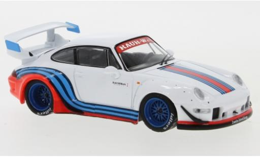 Porsche 993 RWB 1/43 IXO 911  blanco/Dekor RAUH-Welt coche miniatura