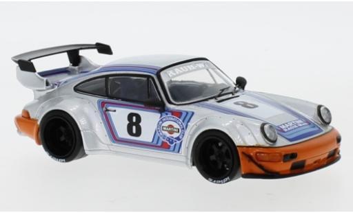 Porsche 964 RWB 1/43 IXO grise RAUH-Welt miniature