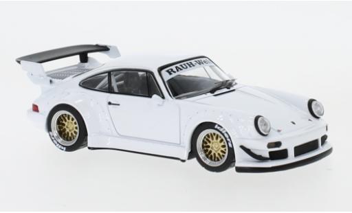 Porsche 930 RWB 1/43 IXO white diecast model cars