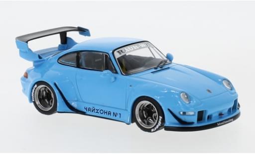 Porsche 993 1/43 IXO RWB bleue miniature