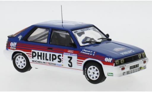 Renault 11 1/43 IXO Turbo No.3 Philips Rallye WM Tour de Corse 1987 J.Ragnotti/P.Thimonier diecast model cars