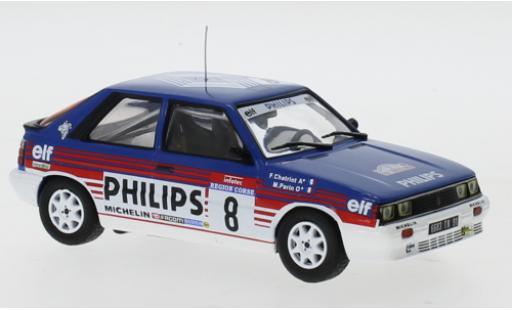 Renault 11 1/43 IXO Turbo No.8 Philips Rallye WM Tour de Corse 1987 F.Chatriot/M.Perin diecast model cars