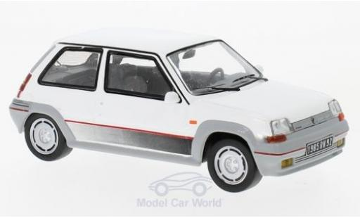 Renault 5 1/43 IXO GT Turbo blanche 198 miniature