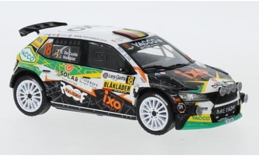 Skoda Fabia 1/43 IXO R5 EVO No.18 Metior Sports Rallye Condroz 2019 C. De Cecco/J.Humblet miniature