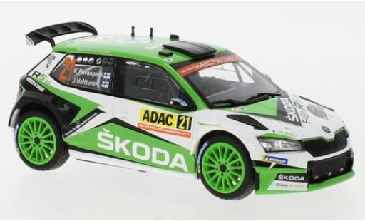 Skoda Fabia 1/43 IXO R5 EVO No.21 Rallye WM Rallye Deutschland 2019 K.Rovanperä/J.Halttunen modellautos