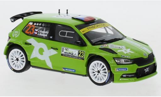 Skoda Fabia 1/43 IXO R5 Evo No.23 Rallye WM Rallye Monza 2020 J.Kopecky/J.Hlousek miniature