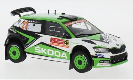 Skoda Fabia 1/43 IXO R5 EVO No.23 Rallye WM Rallye Portugal 2019 K.Rovanperä/J.Halttunen diecast model cars