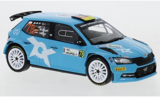 Skoda Fabia 1/43 IXO R5 Evo No.78 WRC Rallye Monza 2020 M.Engel/I.Minor miniature