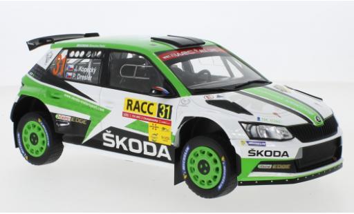 Skoda Fabia 1/18 IXO R5 No.31 Rallye WM Rallye Catalunya 2018 J.Kopecky/P.Dresler diecast model cars