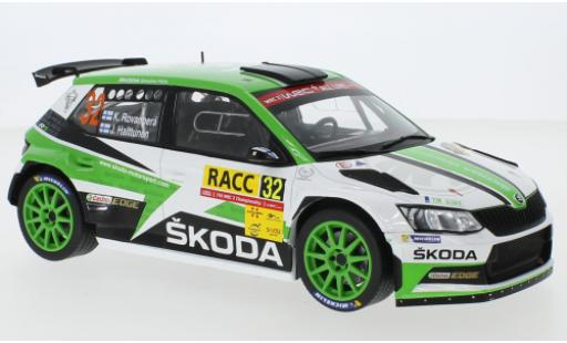 Skoda Fabia 1/18 IXO R5 No.32 Rallye WM Rallye Catalunya 2018 K.Rovanperä/J.Halttunen diecast model cars