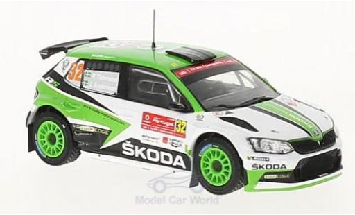 Skoda Fabia 1/43 IXO R5 No.32 Motorsport Rallye WM Rallye Portugal 2017 P.Tidemand/J.Andersson miniature