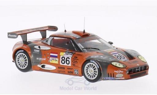 Aston Martin V8 Vantage GT2 1/43 IXO Spyker C8 Spyder GT2R No.86 24h Le Mans 2007 /M.Hezemans/J.Kane diecast model cars