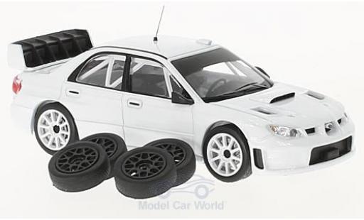 Subaru Impreza 1/43 IXO S12B blanche 2008 Plain Body Version inklusive 4 Ersatzräder miniature