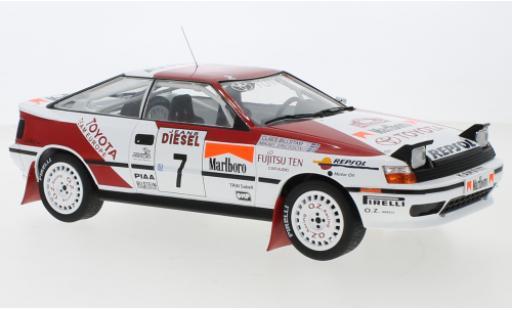 Toyota Celica 1/18 IXO GT-Four ST165 No.7 Team Europe Rallye San Remo 1990 M.Ericsson/C.Billstam miniature