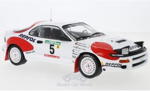 Toyota Celica 1/18 IXO GT-Four ST185 No.5 Team Europe Rallye WM Rallye Portugal 1992 A.Schwarz/A.Hertz miniature