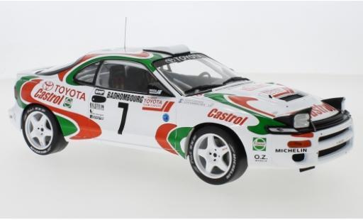 Toyota Celica 1/18 IXO Turbo 4WD (ST185) No.7 Castrol Rallye WM Rallye Monte Carlo 1993 J.Kankkunen/J.Piironen miniature