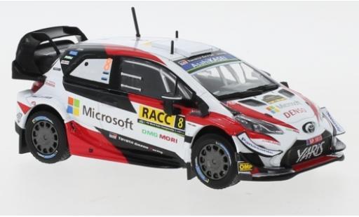 Toyota Yaris 1/43 IXO WRC No.8 Microsoft Rallye WM Rally Catalunya 2019 O.Tänak/M.Järveoja miniature
