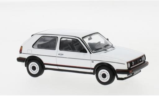 Volkswagen Golf 1/43 IXO II GTi blanco 1984 coche miniatura