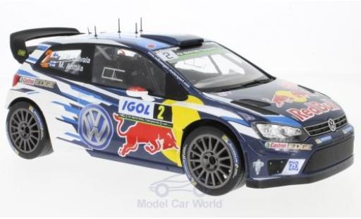 Volkswagen Polo 1/18 IXO R WRC No.2 Motorsport Red Bull Rallye WM Tour de Corse 2016 J-M.Latvala/M.Anttila miniature