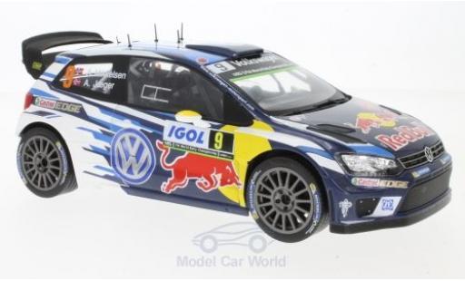 Volkswagen Polo 1/18 IXO R WRC No.9 Motorsport Red Bull Rallye WM Tour de Corse 2016 A.Mikkelsen/A.Jaeger miniature