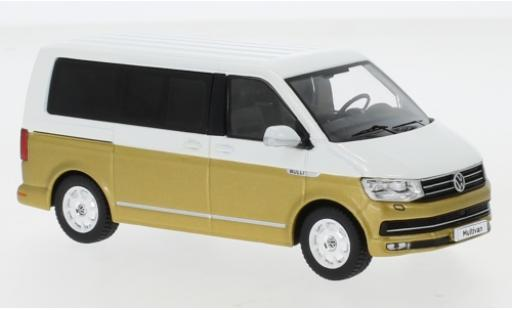 Volkswagen T6 1/43 IXO Multivan white/gold 2017 diecast model cars