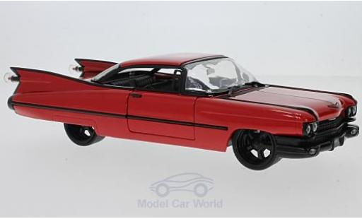 Cadillac Deville 1/24 Jada Toys Coupe rouge 1959 miniature