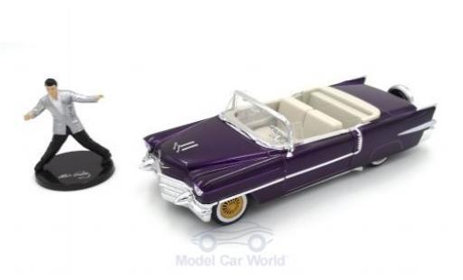 Cadillac Eldorado 1/24 Jada Convertible métallisé violette Elvis Presley 1956 mit Figur miniature