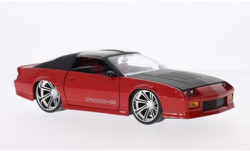Chevrolet Camaro 1/24 Jada Toys Z28 IROC-Z Tuning red/matt-black 1985 diecast model cars