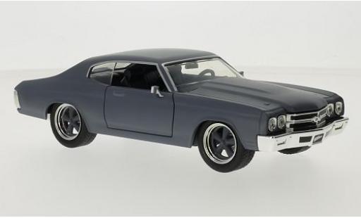 Chevrolet Chevelle 1/24 Jada Toys SS matt-grey Fast & Furious 1970 Doms diecast model cars