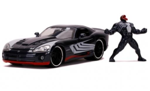 Dodge Viper 1/24 Jada SRT10 metallise grey Spider-Man - Venom 2008 avec figurine diecast model cars