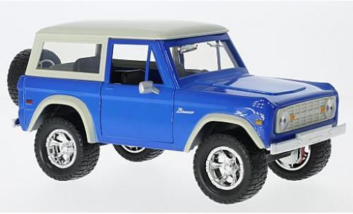 Ford Bronco 1/24 Jada Toys Hardtop blue/beige 1973 sans Vitrine diecast model cars